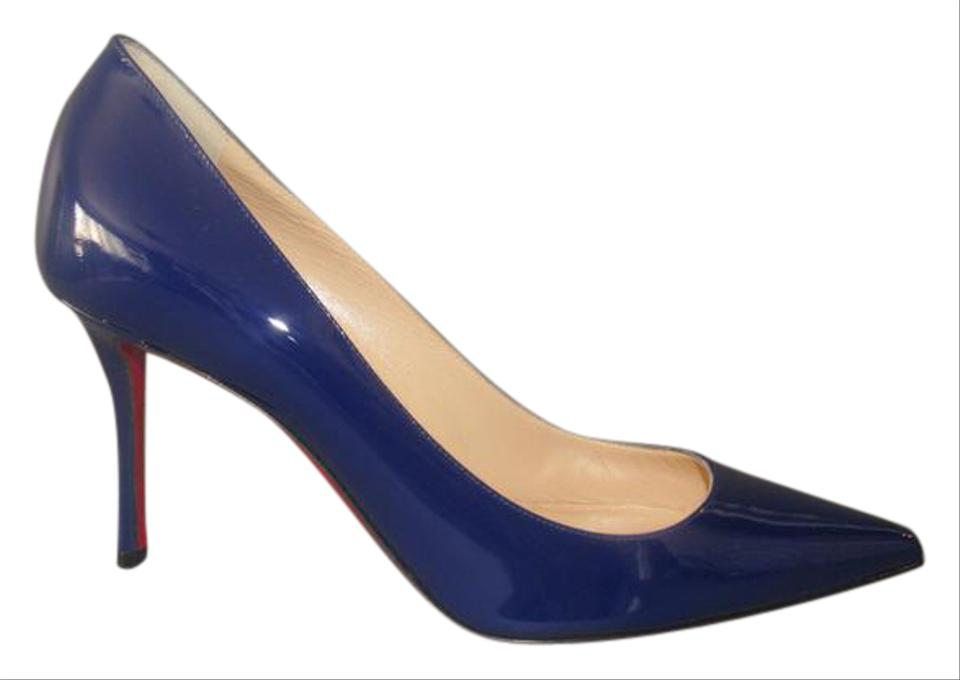 68d282ddbbf Christian Louboutin Encre Decoltish 85 Patent Pumps Size EU 39.5 (Approx.  US 9.5) Regular (M, B) 34% off retail