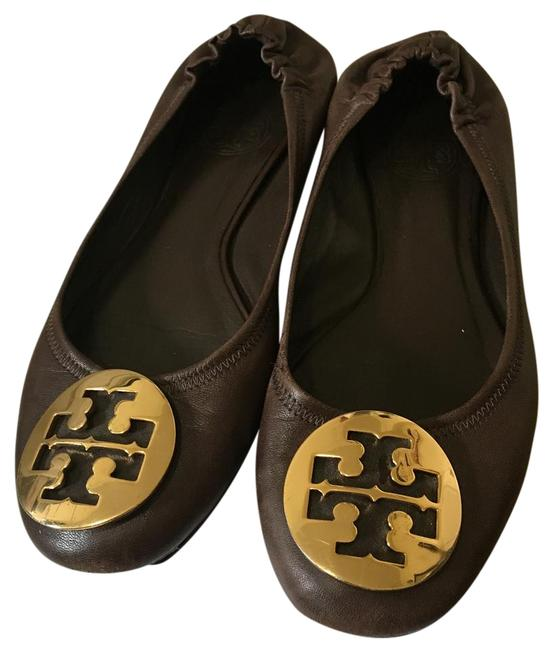 Tory Burch Dark Brown Flats Size US 5.5 Regular (M, B) Tory Burch Dark Brown Flats Size US 5.5 Regular (M, B) Image 1
