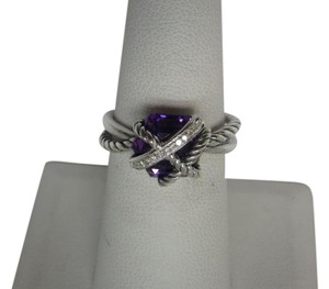 David Yurman Cable Wrap Ring with Amethyst and Diamonds