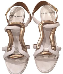 Pierre Hardy white with gold Wedges