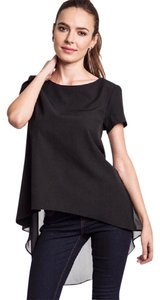 Umgee #short Sleeve Hi Lo Shirt Top Black