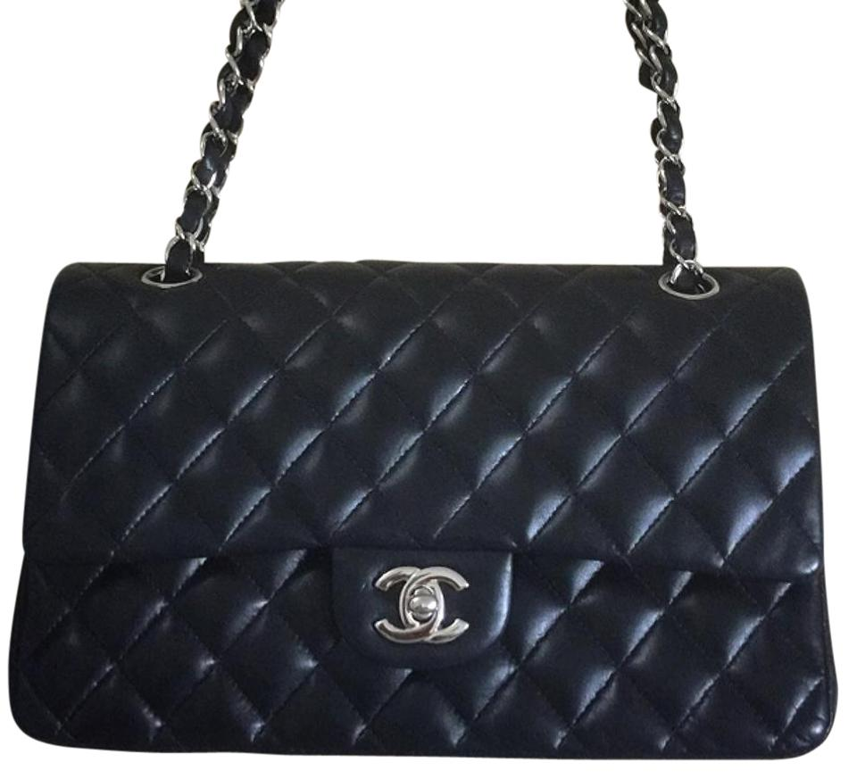 2ad898895d61 Chanel Flap Classic Black Lambskin Leather Shoulder Bag - Tradesy