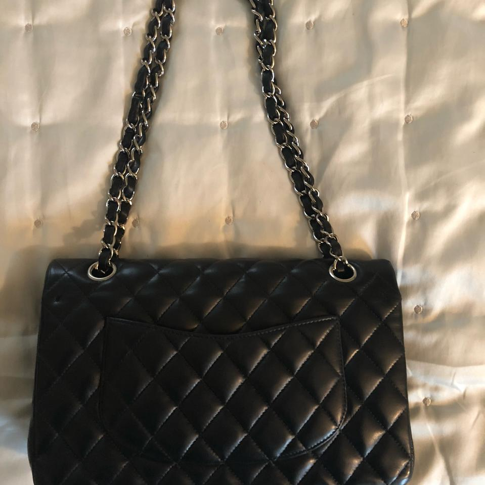 cfcfcb350a28 Chanel Flap Classic Black Lambskin Leather Shoulder Bag - Tradesy