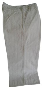 Burning Torch Made Usa Striped Capris off white