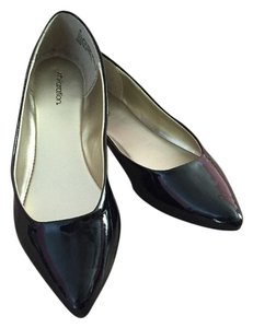 Xhilaration Faux Patent Leather Black Flats