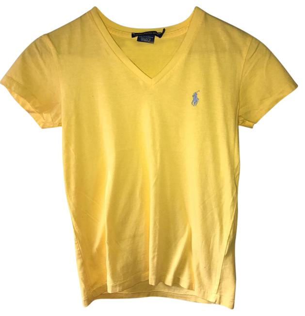 Preload https://img-static.tradesy.com/item/21810055/ralph-lauren-yellow-tee-shirt-size-2-xs-0-1-650-650.jpg