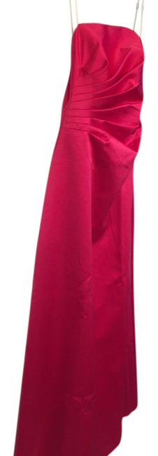 A.B.S. by Allen Schwartz Hot Pink Strapless Full Length Long Formal Dress Size 8 (M) A.B.S. by Allen Schwartz Hot Pink Strapless Full Length Long Formal Dress Size 8 (M) Image 1