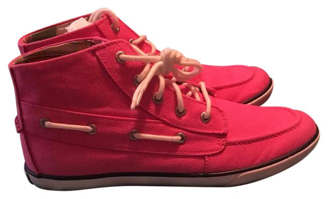 Polo Ralph Lauren Pink and White Belmont Coast Mid Sneakers Size US 8 Regular (M, B) Polo Ralph Lauren Pink and White Belmont Coast Mid Sneakers Size US 8 Regular (M, B) Image 1