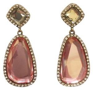 Jennifer Miller Jewelry Rose Gold Pink Crystal and Pave Drop Earrings