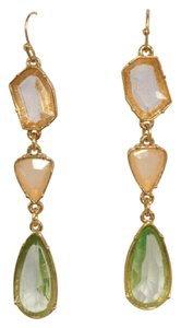 Jennifer Miller Jewelry Geometric Crystal & Rose Gold Drop Earrings