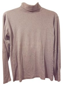 Izod Turtleneck Size S (4-6) Color Long Sleeves Top Gray