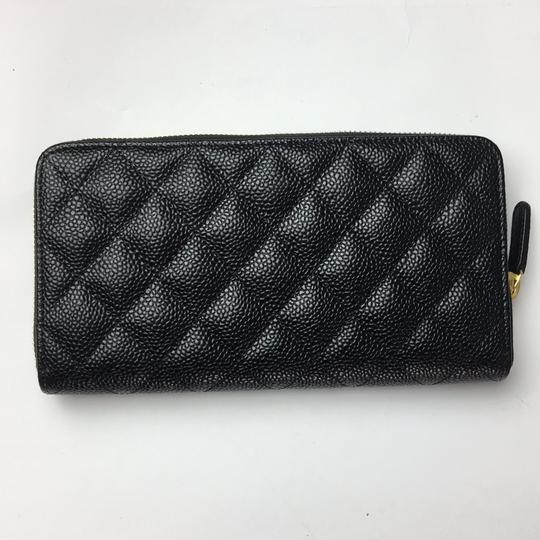 Chanel Brand New Chanel Classic Zip Around Wallet in Black Caviar with GHW Image 1