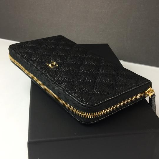 Chanel Brand New Chanel Classic Zip Around Wallet in Black Caviar with GHW Image 5