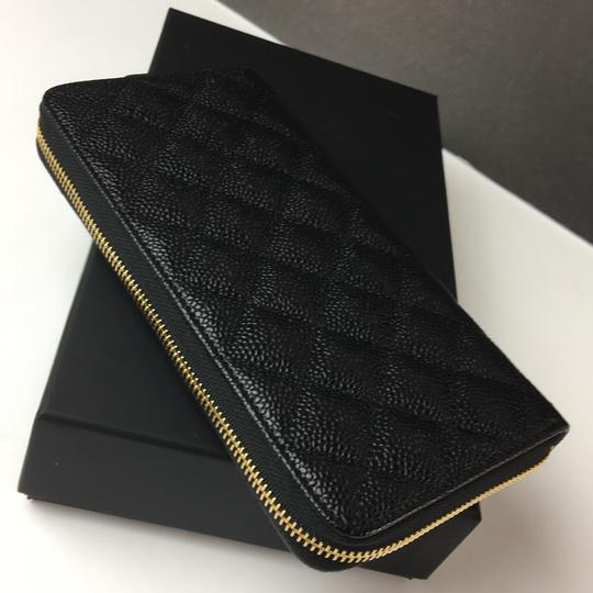 Chanel Brand New Chanel Classic Zip Around Wallet in Black Caviar with GHW Image 6