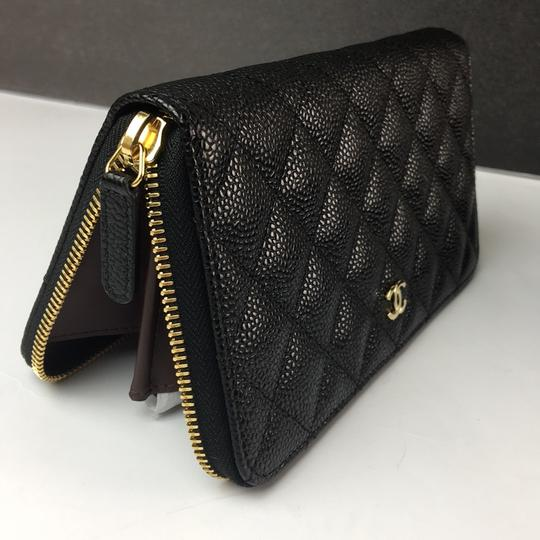 Chanel Brand New Chanel Classic Zip Around Wallet in Black Caviar with GHW Image 7