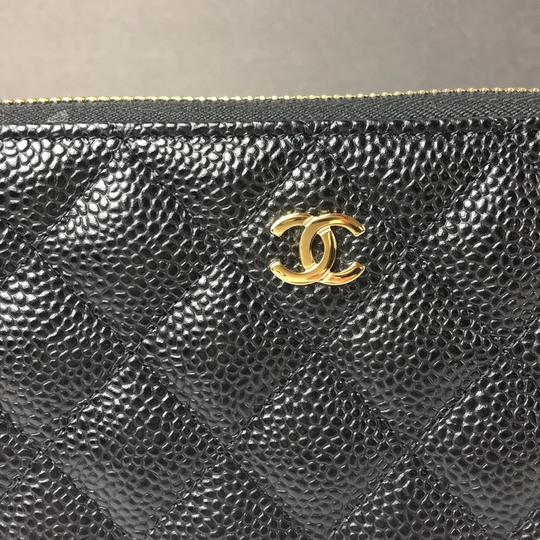Chanel Brand New Chanel Classic Zip Around Wallet in Black Caviar with GHW Image 8