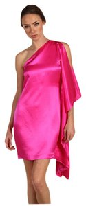 Robert Rodriguez One Shoulder Silk Night Out Dress