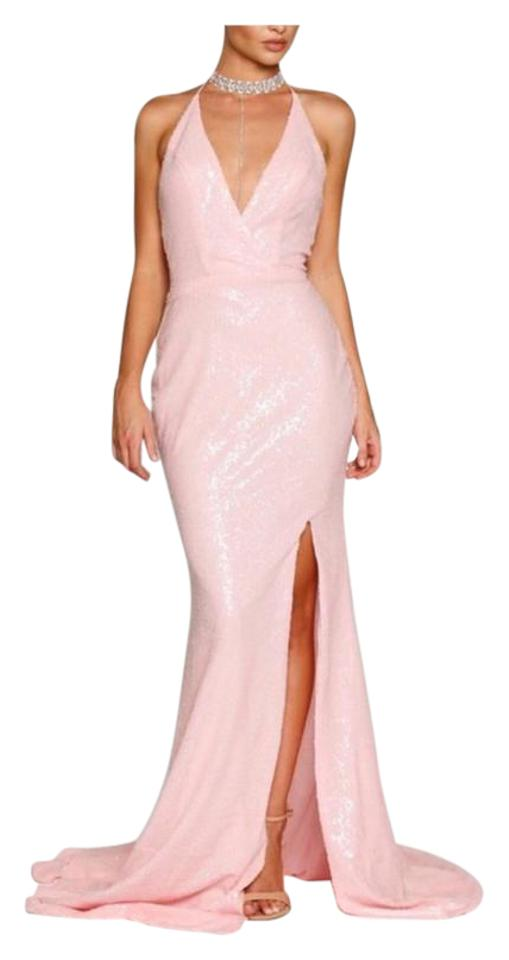 Image result for pink sequin gown