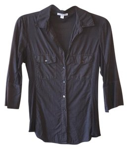 James Perse Button Down Shirt Slate