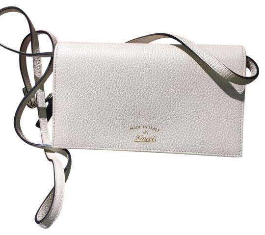 12296991e20f45 Gucci Wallet On Chain White. Gucci Soho Wallet On Chain Red and White Leather  Cross Body Bag - Tradesy
