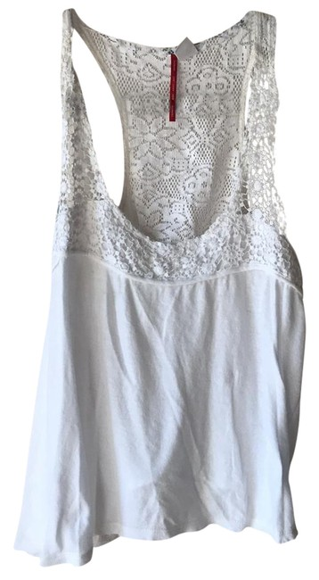 Element White Tank Top/Cami Size Petite 4 (S) Element White Tank Top/Cami Size Petite 4 (S) Image 1