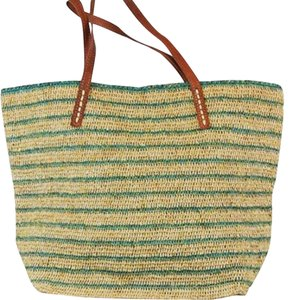 Mar Y Sol Tote in green with gold