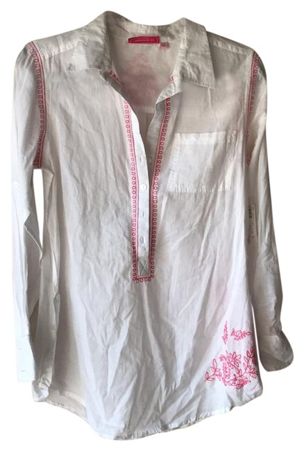 Item - White and Pink Cover-up/Sarong Size 4 (S)