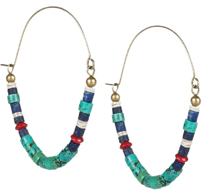 Item - Multicolor Out Of Arica Shell and Stone Earrings