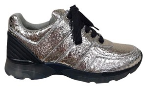 Chanel Crackle Trainer Sneaker Runner silver Athletic