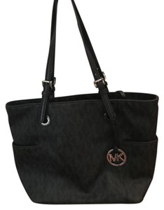 Michael Kors Signature Mklogo Tote in black