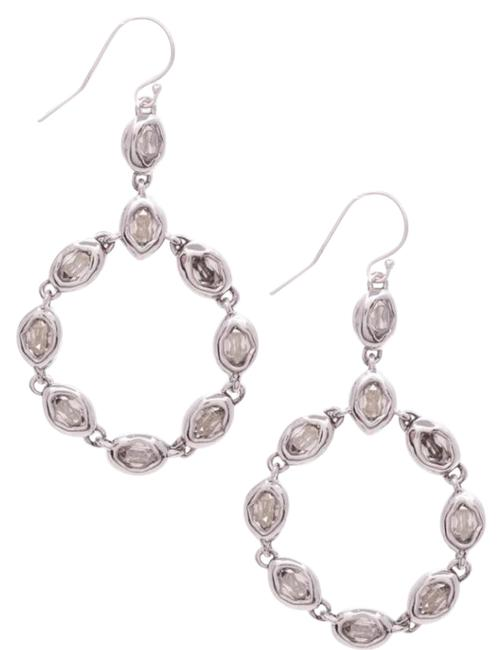 Alexis Bittar Silver Silver-tone Elements Moonlight Crystal Drop Earrings Alexis Bittar Silver Silver-tone Elements Moonlight Crystal Drop Earrings Image 1