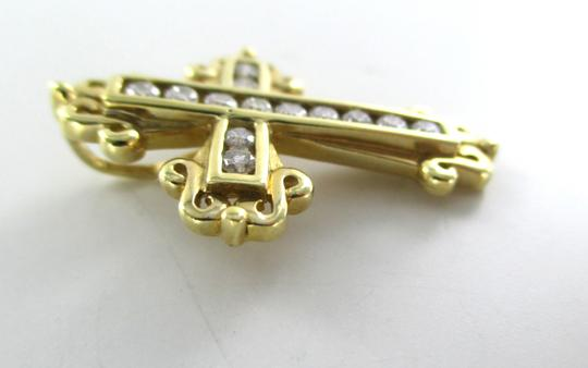 Other 14KT SOLID YELLOW GOLD CROSS 13 DIAMONDS .50 CARAT 3.5 GRAMS EASTER RELIGIOUS Image 6