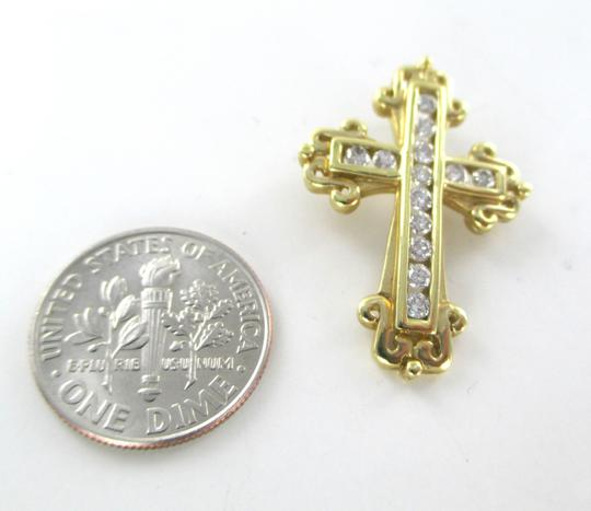 Other 14KT SOLID YELLOW GOLD CROSS 13 DIAMONDS .50 CARAT 3.5 GRAMS EASTER RELIGIOUS Image 7