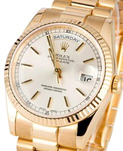 Rolex Rolex Day Date 18K Yellow Gold Silver Dial Presidential Watch