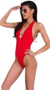 31d366306f74f Yandy BAYWATCH LIFEGUARD SWIMSUIT L ONE PIECE Zipper Front BRAND NEW - item  med img