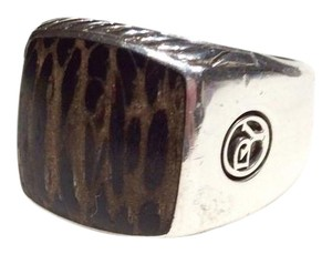 David Yurman David Yurman Large Exotic Wood Signet Ring