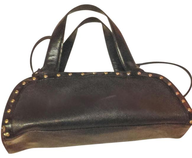 Roccobarocco Studded Black Faux Leather Satchel Roccobarocco Studded Black Faux Leather Satchel Image 1
