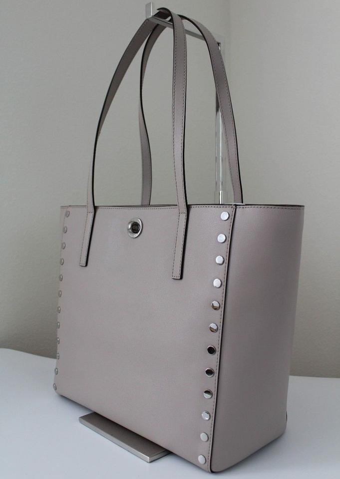 70d45d9caf17 Michael Kors Rivington Stud Large Cement/Silver Leather Tote - Tradesy