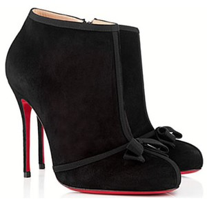 Christian Louboutin Thigh High Ankle Pump Heel Black Boots