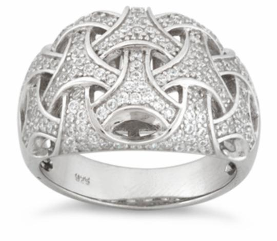 Preload https://img-static.tradesy.com/item/21814006/sterling-silver-woven-pave-ring-0-0-540-540.jpg