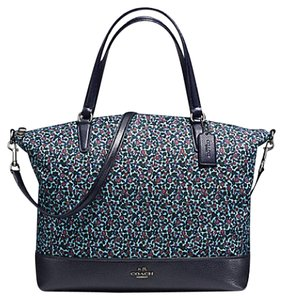 Coach Monogram Satchel 57902 Tote in mist blue