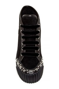 Marc Jacobs Studded Suede Black Platforms