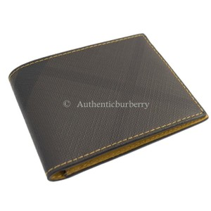 Burberry Burberry Men's Contrast London Checkered Wallet ‑ Larch Yellow