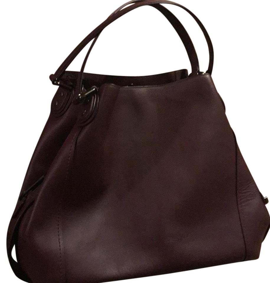 Coach Edie 42 Oxblood Red(Burgundy) Leather Hobo Bag - Tradesy 4e3c895f461b1