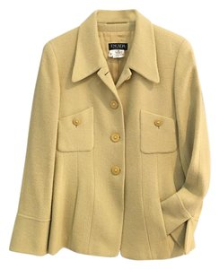 Escada Wool Designer Light Green Jacket