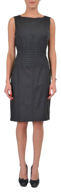 Item - Gray Wool Sleeveless Women's Sheath Short Casual Dress Size 12 (L)