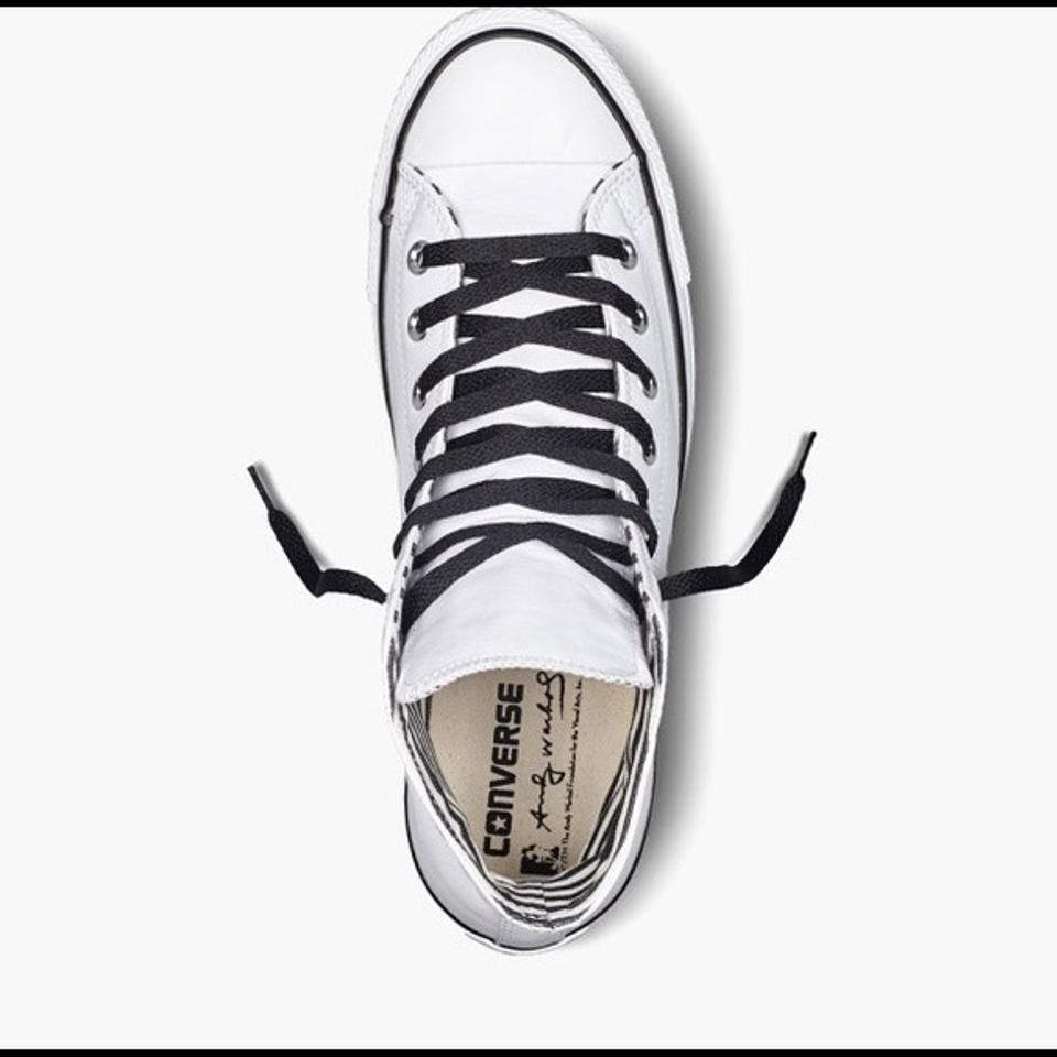 174c3cf15c8a Converse White   Yellow Limited Edition Chuck Taylor All Star Andy Warhol  Banana Sneakers Size US 7 Regular (M