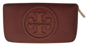Tory Burch Leather Zippered Wallet