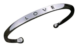 Forever Silver Alloy Love Cuff Bangle Fashion Bracelet
