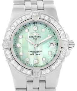 Breitling Breitling Starliner Green Mother of Pearl Diamond Ladies Watch A71340